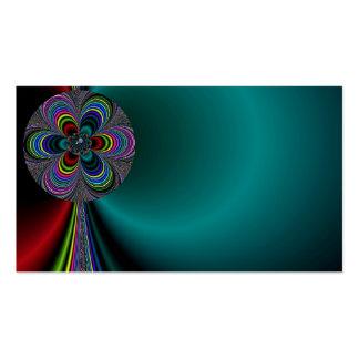 Tarjeta de visita colorida del molinillo de viento