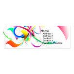 Tarjeta de visita colorida para la venta