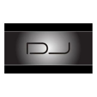 Tarjeta de visita con clase de DJ del