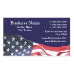 tarjeta de visita con la bandera americana 2