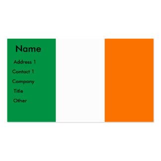 Tarjeta de visita con la bandera de Irlanda