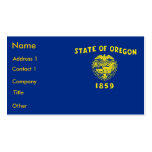 Tarjeta de visita con la bandera de Oregon los E.E