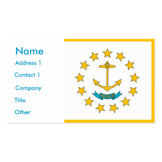 Tarjeta de visita con la bandera de Rhode Island