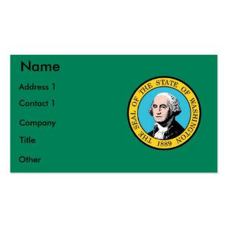 Tarjeta de visita con la bandera del estado de Was