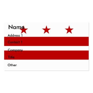 Tarjeta de visita con la bandera del Washington DC