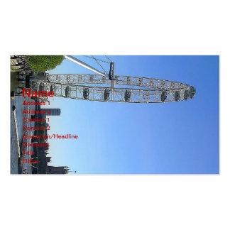 Tarjeta de visita con la noria del ojo de Londres