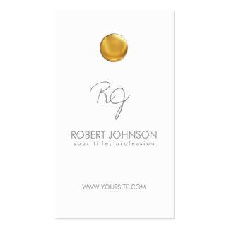 Tarjeta de visita con monograma del punto de oro