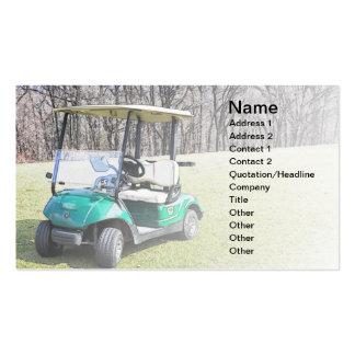 tarjeta de visita con un carro de golf