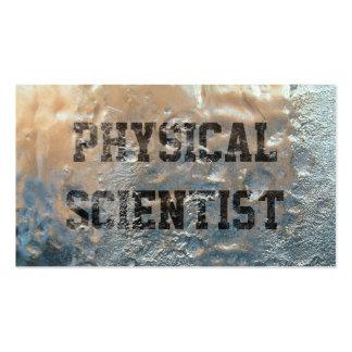 Tarjeta de visita congelada del científico físico
