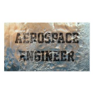 Tarjeta de visita congelada del ingeniero aeroespa