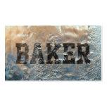 Tarjeta de visita congelada fresca del panadero de