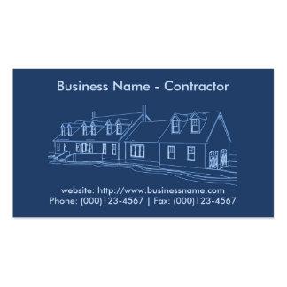 Tarjeta de visita: Contratista/construcción