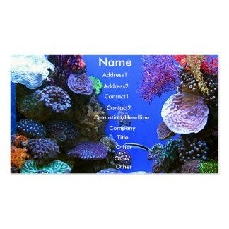 Tarjeta de visita coralina