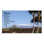 Tarjeta de visita coronada de nieve de Mauna Kea