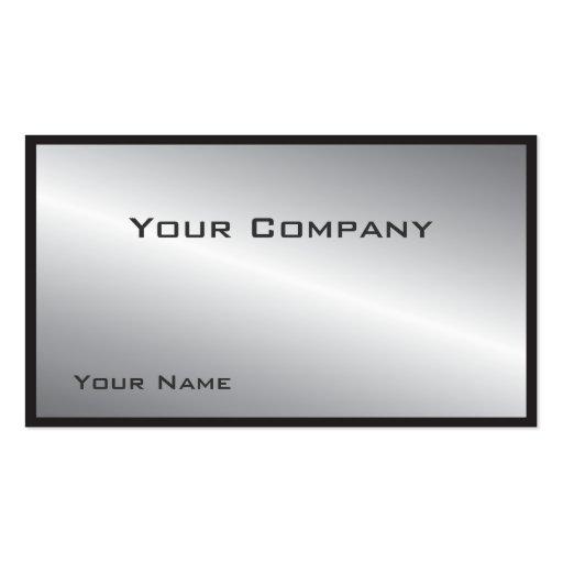 Tarjeta de visita corporativa de plata confinada