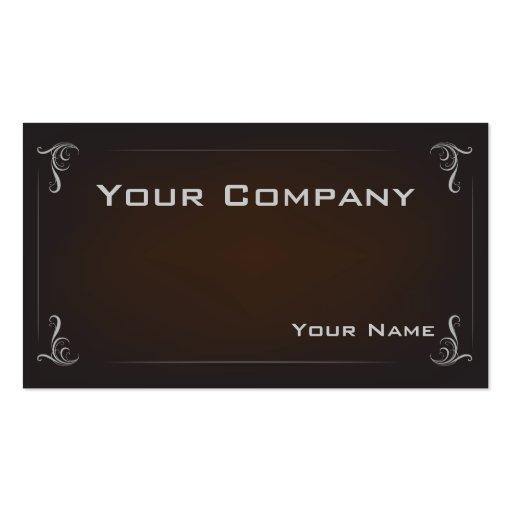 Tarjeta de visita corporativa elegante de color