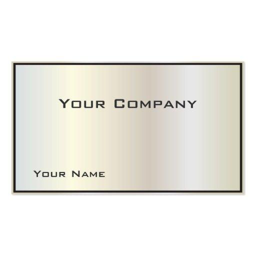 Tarjeta de visita corporativa nacarada de la