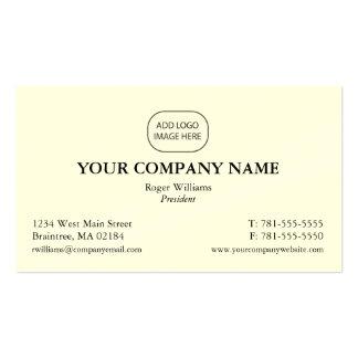 Tarjeta de visita corporativa simple - añada su lo