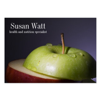Tarjeta de visita cortada nutricionista de Apple