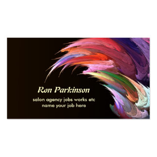 tarjeta de visita creativa artística