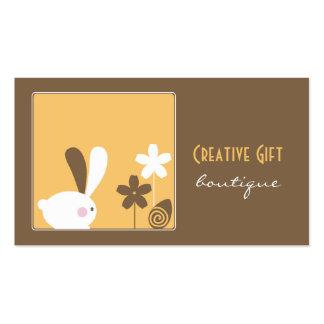 Tarjeta de visita creativa del boutique del regalo