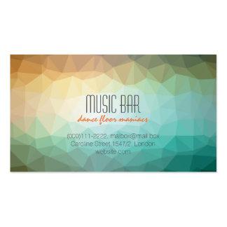 Tarjeta de visita creativa del club de la música