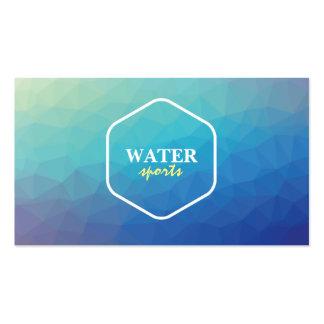 Tarjeta de visita creativa del tema del agua