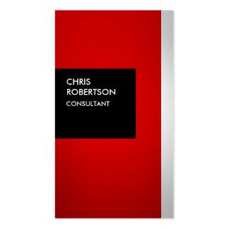 Tarjeta de visita creativa negra gris roja colorid