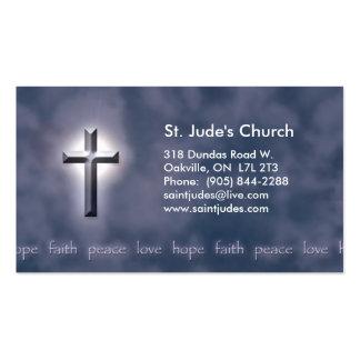 Tarjeta de visita cristiana de la esperanza de la