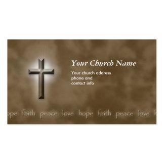 Tarjeta de visita cristiana de la fe del amor de l