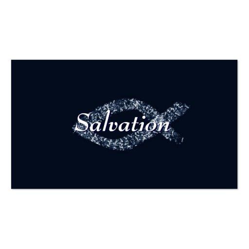 Tarjeta de visita cristiana de la salvación