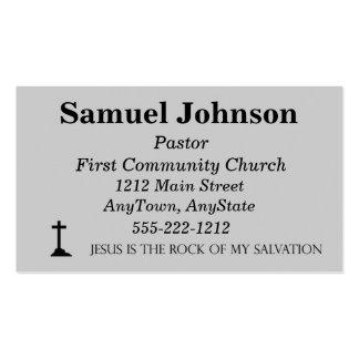 Tarjeta de visita cruzada con 10 mandamientos