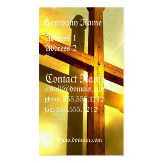 Tarjeta de visita cruzada de oro