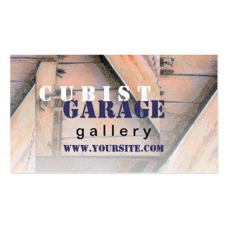 Tarjeta de visita cubista de la galería del garaje