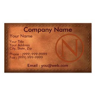 tarjeta de visita cuero carta N