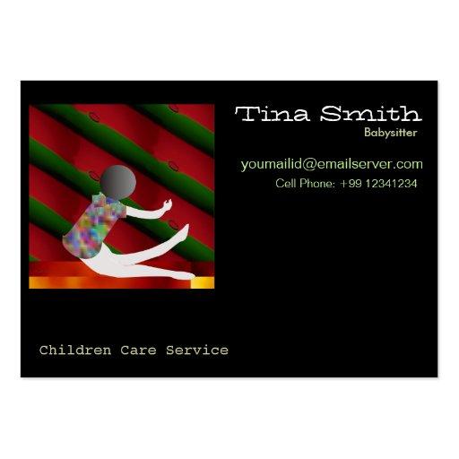 Tarjeta de visita - cuidado de niños