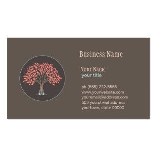 Tarjeta de visita curativa holística del árbol