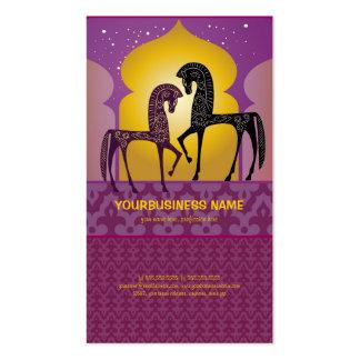 Tarjeta de visita de 1001 noches árabes