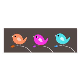 Tarjeta de visita de 3 pájaros