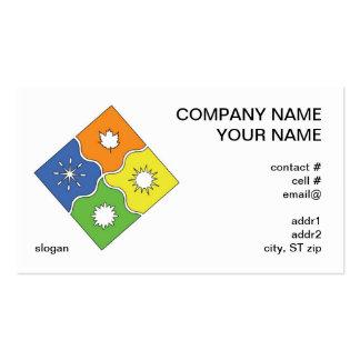 tarjeta de visita de 4 estaciones