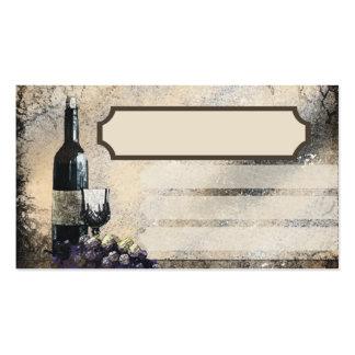tarjeta de visita de abastecimiento de las uvas de