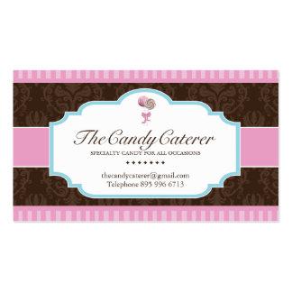 Tarjeta de visita de abastecimiento del caramelo