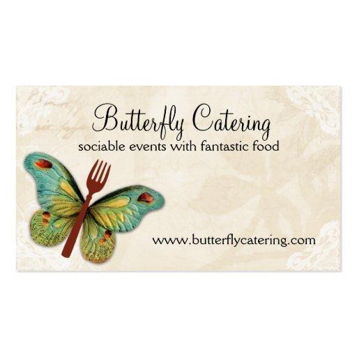 tarjeta de visita de abastecimiento del cocinero