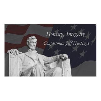 Tarjeta de visita de Abraham Lincoln