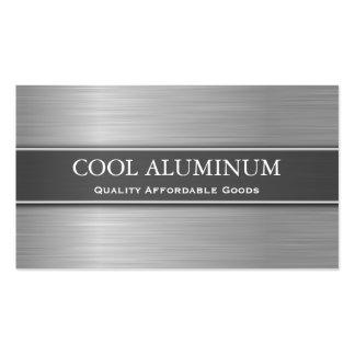 Tarjeta de visita de acero/de aluminio del efecto