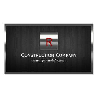 Tarjeta de visita de acero y de madera de construc