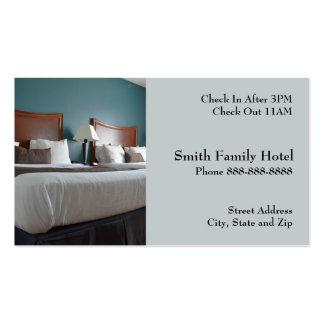 Tarjeta de visita de alojamiento del motel del hot