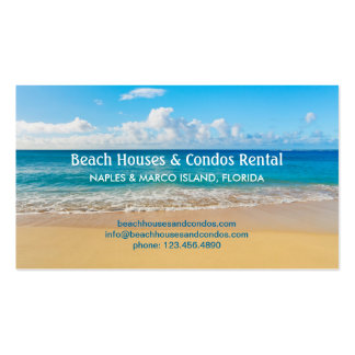 Tarjeta de visita de alquiler de la casa de playa