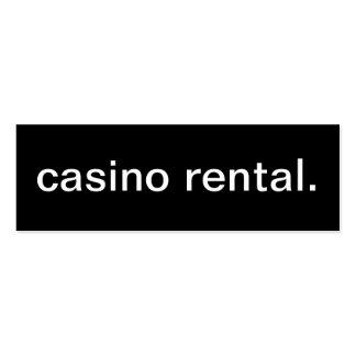 Tarjeta de visita de alquiler del casino