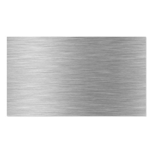 tarjeta de visita de aluminio cepillada